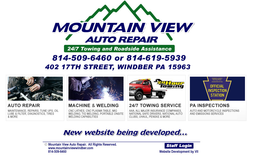 Mountain View Auto Repair, Welding and Towing Windber PA